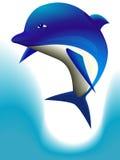 Cheerful dolphin Stock Photos