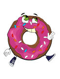 Cheerful doughnut cartoon Stock Photography