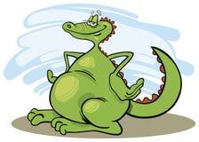 Cheerful dragon Stock Photos