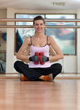 Cheerful Dumbell Workout Stock Photography