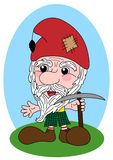 Cheerful dwarf miner Royalty Free Stock Images