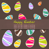 Cheerful Easter background Royalty Free Stock Photography