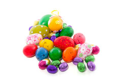 Cheerful easter eggs Stock Photography