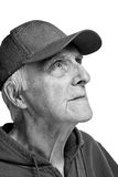 Cheerful elderly man. Optimism and thirst of a life stock photos