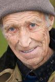 Cheerful elderly the man stock photography