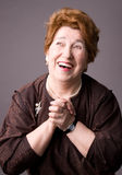 The cheerful elderly woman. Stock Photography
