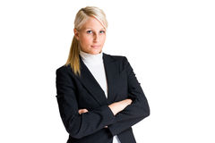 Cheerful elegant business woman. Royalty Free Stock Images