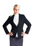 Cheerful elegant business woman. Stock Photo