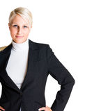 Cheerful elegant business woman. Stock Image