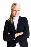 Cheerful elegant business woman. Stock Photos