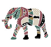 Cheerful elephant from geometrical figures. Royalty Free Stock Photography
