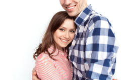Cheerful embracing couple Stock Photography