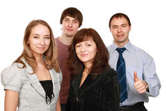 Cheerful employees. Group of cheerful office workers Stock Photography