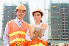 Cheerful engineers Stock Photo
