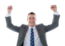 Cheerful excited business executive Stock Photos