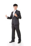 Cheerful and exciting business man Royalty Free Stock Images