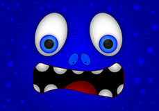 Cheerful face of a monster. Cheerful monster face, vector art illustration Royalty Free Stock Photo