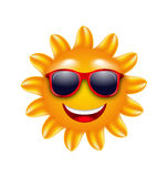 Cheerful Face of Summer Sun with Sunglasses Royalty Free Stock Photo
