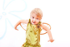 Cheerful fairy little girl Royalty Free Stock Photography