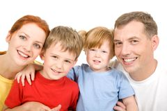 Cheerful family Stock Photos