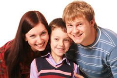Cheerful family Royalty Free Stock Photos