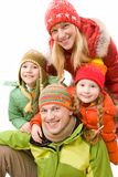 Cheerful family Stock Images
