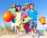 Cheerful Family Bonding Beach Vacation Holiday Concept Royalty Free Stock Photo