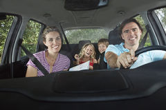 Cheerful Family In Car Royalty Free Stock Photo