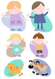 Happy Family Set Royalty Free Stock Images