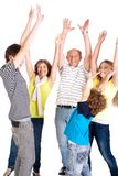 Cheerful family of five Royalty Free Stock Photo