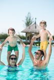 Cheerful family stock photography
