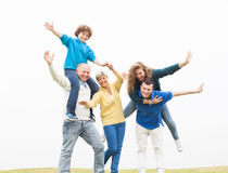 Cheerful family having fun on holiday Royalty Free Stock Image