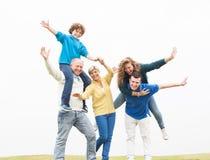 Cheerful family having fun on holiday Royalty Free Stock Image