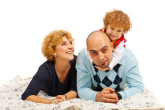 Cheerful family having fun home Royalty Free Stock Images