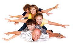 Cheerful family having fun in the studio Royalty Free Stock Photo