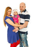 Cheerful family holding baby Royalty Free Stock Images