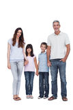 Cheerful family holding hands Royalty Free Stock Images