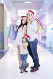 Cheerful family in the mall Royalty Free Stock Image