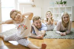 Cheerful family. Portrait of family. royalty free stock photos