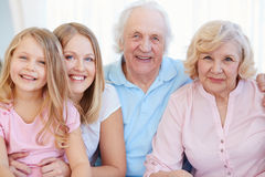 Cheerful family Royalty Free Stock Images
