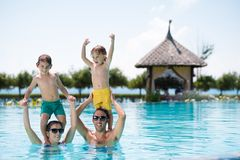 Cheerful family Royalty Free Stock Photography