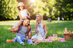 Cheerful family spending time together Stock Photography