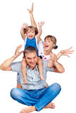 Cheerful family of three Stock Photography