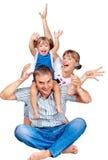 Cheerful family of three Stock Photography