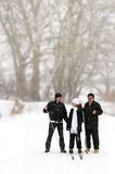 Cheerful family in the winter. Royalty Free Stock Photography
