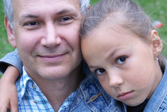 Cheerful father and daughter Royalty Free Stock Photography