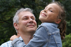 Cheerful father and daughter royalty free stock images