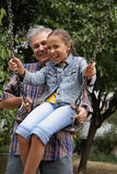 Cheerful father and daughter Royalty Free Stock Photos