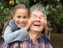 Cheerful father and daughter Stock Photography