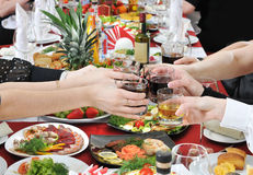 Cheerful feast. Stock Photo
